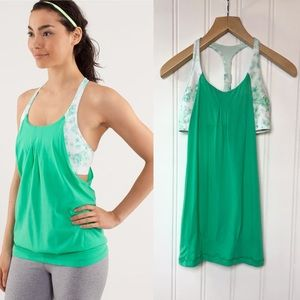 Lululemon Practice Freely Very Green Tank Size 6